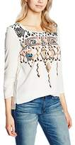 Passport Women's Loose Fit 3/4 sleeve Blouse - White -