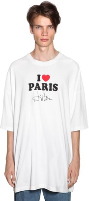 Vetements OVERSIZE PRINTED COTTON T-SHIRT