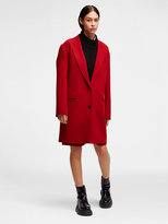 DKNY Wool Notch Collar Coat