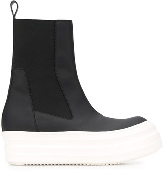 Rick Owens Chunky Sole Ankle Boots