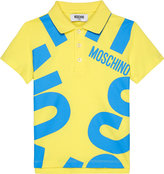 Moschino Blown Up Logo Cotton Polo Shirt