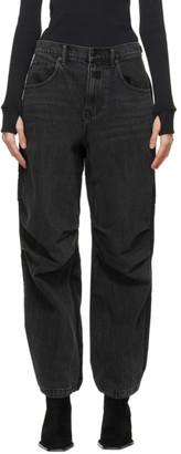 Alexander Wang Black Pack Mix Hybrid Jeans