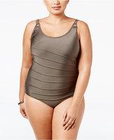 Calvin Klein Plus Size Starburst One-Piece Swimsuit