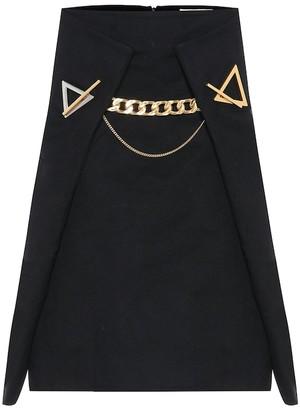 Bottega Veneta Embellished cashmere skirt