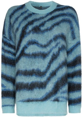R 13 Oversized Intarsia-Knit Jumper