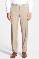 BOSS 'Sharp' Flat Front Wool Trousers