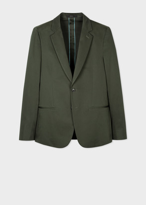 Paul Smith The Soho - Men's Tailored-Fit Green Cotton-Stretch Blazer