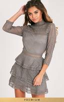Grey Tiered Dress - ShopStyle UK