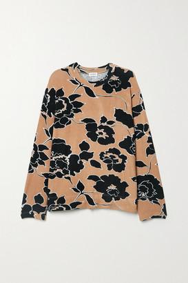 Leset Lori Floral-print Stretch-jersey Sweatshirt - Black