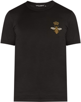 Dolce & Gabbana Bee-embroidered cotton T-shirt