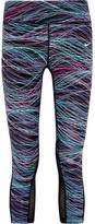 Nike Printed Dri-fit Stretch-jersey Leggings - Blue