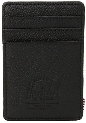 Herschel Raven Leather RFID (Black Pebbled Leather 1) Wallet Handbags