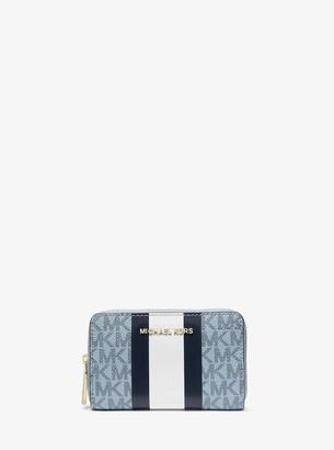 MICHAEL Michael Kors Small Logo Stripe Wallet