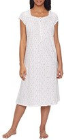 Eileen West Jersey Ballet Floral Knit Nightgown