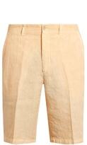 120% Lino Mid-rise Slim-leg Linen Shorts