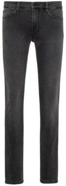 HUGO BOSS Skinny Fit Jeans In Grey Stretch Denim - Grey