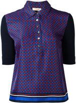 Tory Burch printed polo shirt - women - Silk/Cotton - L