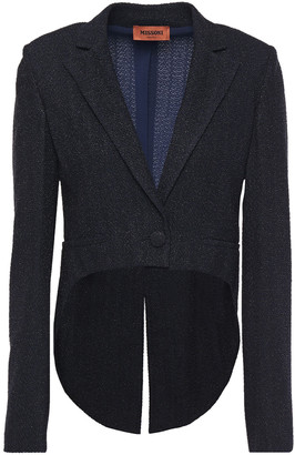 Missoni Asymmetric Cropped Metallic Boucle-knit Blazer