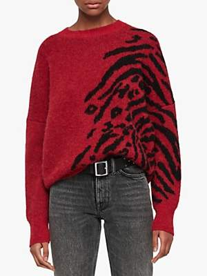 AllSaints Karina Animal Print Jumper