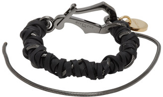 Givenchy Black Braided Bracelet
