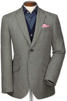 Charles Tyrwhitt Slim Fit Grey Checkered Luxury Border Tweed Wool Jacket Size 38