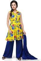 Vastra Vinod Big Girls' Cotton Readymade Kurti With Palazzo Pants