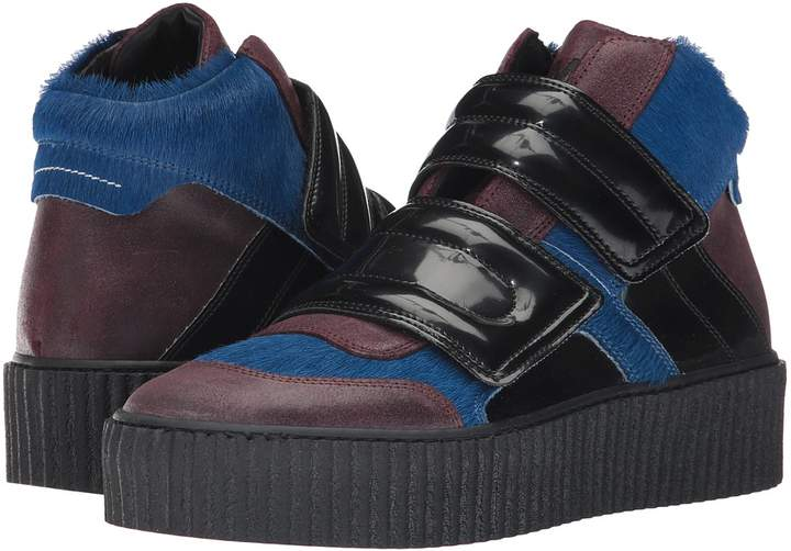 MM6 MAISON MARGIELA Mixed Material Creeper High Top Women's Boots