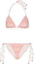 Eberjey Gisele Kate Printed Triangle Bikini - Blush