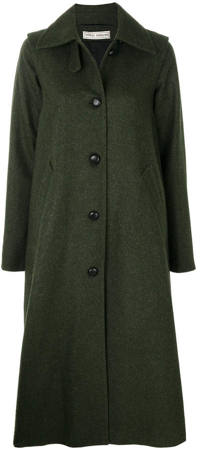 Veronique Branquinho long rear pleat coat