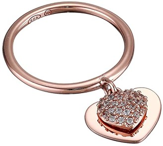 Michael Kors Precious Metal-Plated Sterling Silver Pave Heart Ring (Rose Gold) Ring