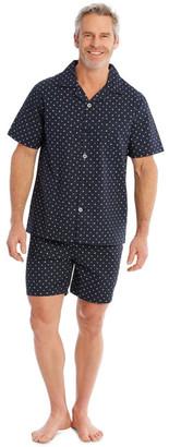 Reserve Short Sleeve Poplin PJ Set - Neat Geo