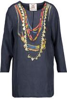 Figue Iris Printed Washed-Silk Broadcloth Tunic