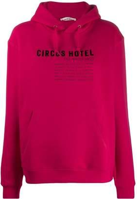 Circus Hotel two tone logo print hoodie