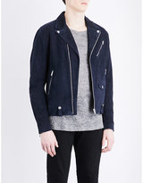 The Kooples Biker Collar Suede Jacket