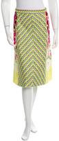 Marc Jacobs Embroidered Midi Skirt