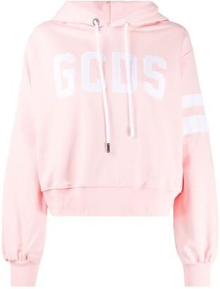 GCDS Voluminous-Sleeve Logo Hoodie