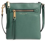 Marc Jacobs Recruit North/south Leather Crossbody Bag - Blue