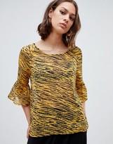 Ichi Tiger Print Blouse