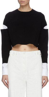 Alexander Wang Shirt panel cropped sweater