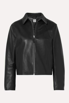 Totême Lucca Leather Jacket - Black