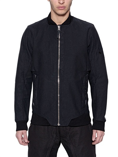 Stone Island Shadow Project - Dyed Wool & Linen Bomber Jacket