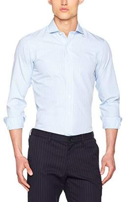 Brooks Brothers Men's Camicia Milano Manica Lunga Business Shirt,(Size: 17 35)