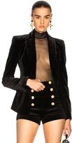 Nicholas Bonded Velvet Blazer in Black.