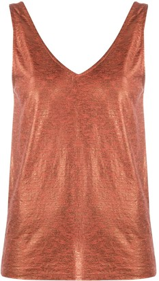 Majestic Filatures Metallic Knitted Vest Top