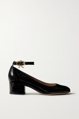 Gianvito Rossi Ribbon 45 Patent-leather Pumps - Black