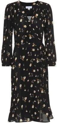 Velvet Jasmine floral wrap dress