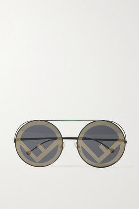 Fendi Round-frame Metal Sunglasses - Black