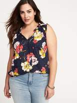 Old Navy Plus-Size Sleeveless Tassel-Tie Top