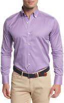 Peter Millar Horizon Check Sport Shirt, Lotus Blossom