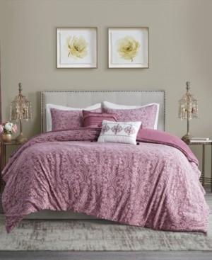 Madison Home USA Chantelle King/Cal King 5 Piece Damask Matelasse Cotton Comforter Set Bedding